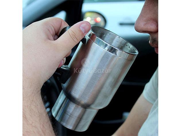 Szivargyújtóról melegíthető pohár – termosz