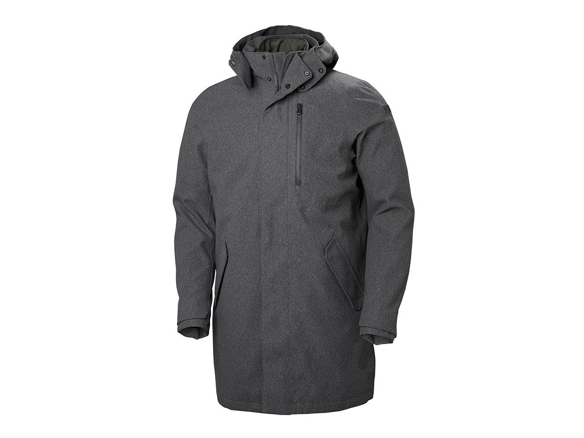 Helly Hansen HELSINKI 3-IN-1 COAT - CHARCOAL MELANGE - XXL (64075_964-2XL )