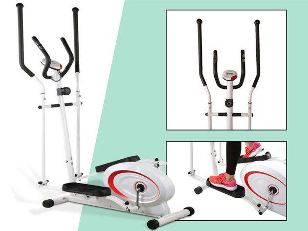 Ellipszis tréner Basic - kíméletesen mozgatja át a testet, kijelzőjén folyamatosan nyomon követheted például az elégetett kalóriák, a pulzusszám és a megtett távolság becsült számát
