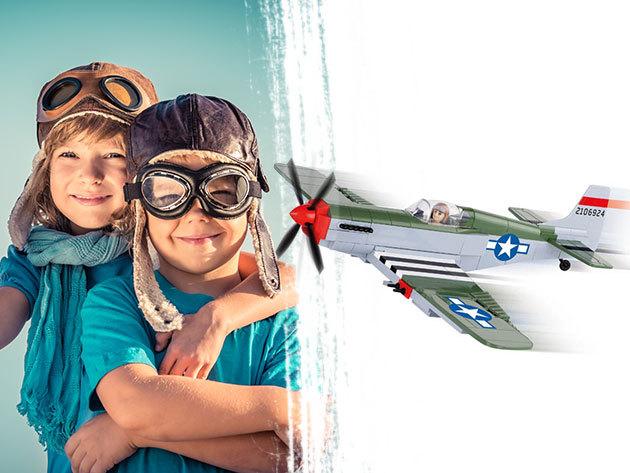 Repülő modell - minőségi építőjáték 250 db elemből, mely fejleszti a kreativitást és a kézügyességet