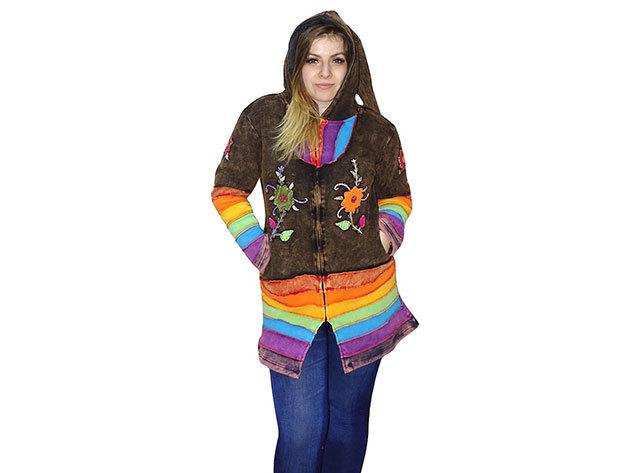 dda702dbdd Női kabátok Nepálból 100% minőségi pamut anyagból (M-3XL)