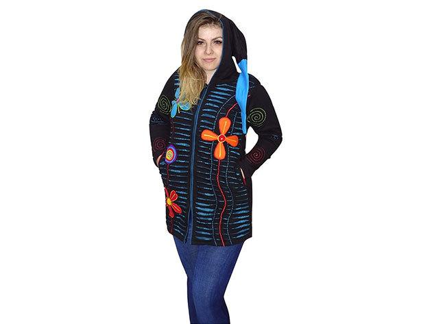 808399a03f92 Női kabátok Nepálból 100% minőségi pamut anyagból (M-3XL)