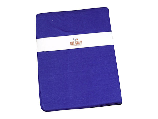 Gumis lepedő, Jersey  Méret: 160cm x 200cm Szín: kék