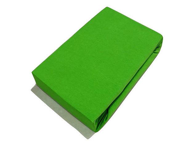 Gumis lepedő, Jersey  Méret: 220cm x 200cm, zöld