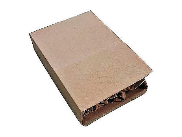 Gumis lepedő, Jersey  Méret: 220cm x 200cm, drapp