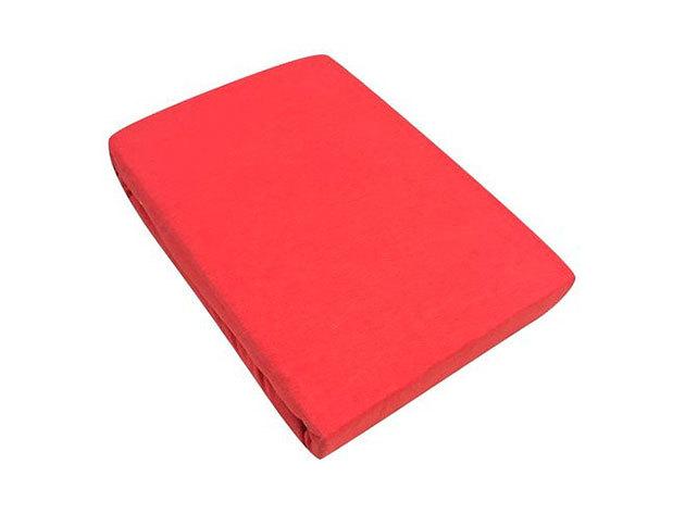 Gumis lepedő, Jersey  Méret: 160cm x 200cm, piros