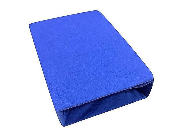 Gumis lepedő, Jersey  Méret: 160cm x 200cm, kék - AZONNAL ÁTVEHETŐ