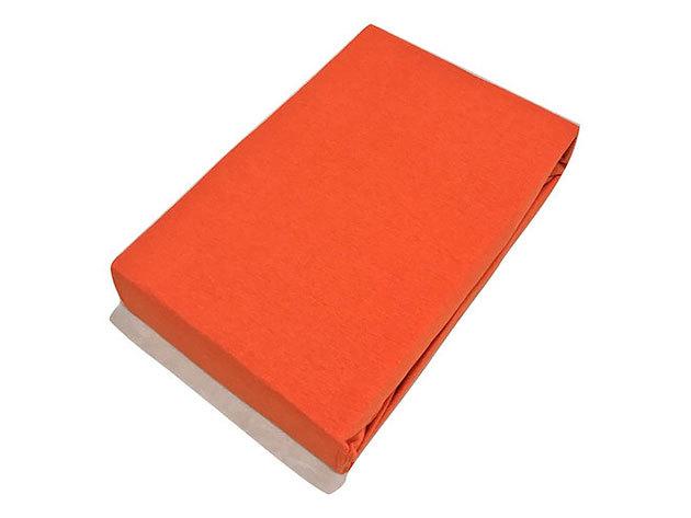 Gumis lepedő, Jersey  Méret: 160cm x 200cm, narancs