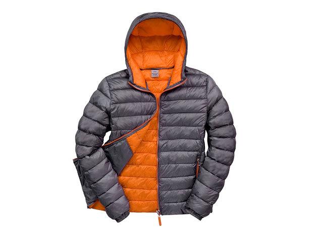 Kapucnis kabát férfiaknak - Szürke-sárga XL