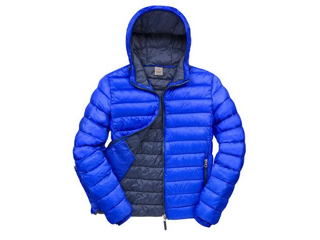 Kapucnis kabát férfiaknak - Kék-Kék XL
