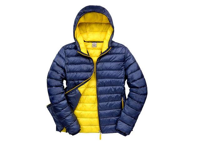 Kapucnis kabát férfiaknak - Navy Kék-Citromsárga XXL
