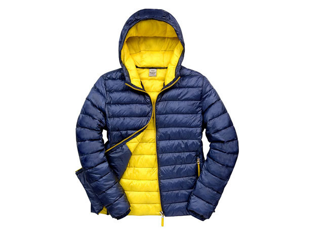 Kapucnis kabát férfiaknak - Navy Kék-Citromsárga XXXL