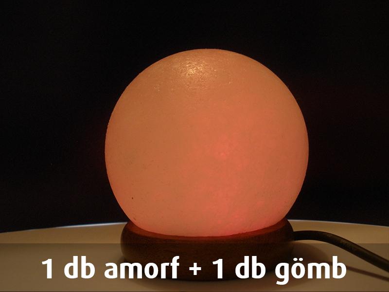 1 db amorf + 1 db gömb USB-s himalájai sókristály lámpa