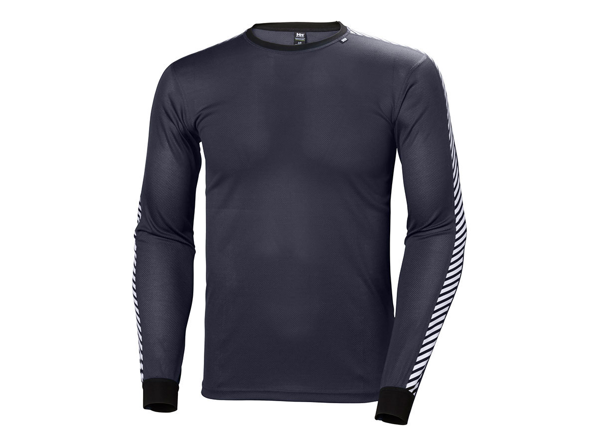 Helly Hansen HH LIFA STRIPE CREW - GRAPHITE BLUE - XXL (48800_994-2XL )