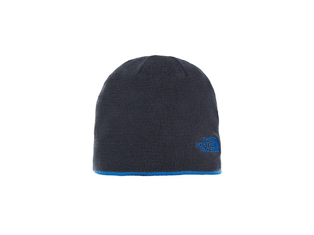 The North Face REVERSIBLE TNF BANNER BEANIE TURKISH SEA/URBAN NAVY - T0AKND1SK