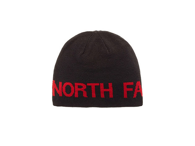 The North Face REVERSIBLE TNF BANNER BEANIE TNF BLACK/TNF RED - T0AKNDKX9