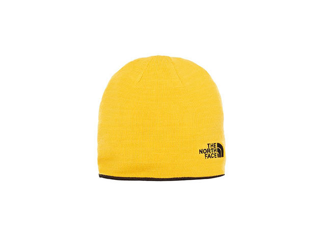 The North Face REVERSIBLE TNF BANNER BEANIE TNF BLACK/TNF YELLOW - T0AKNDLE6