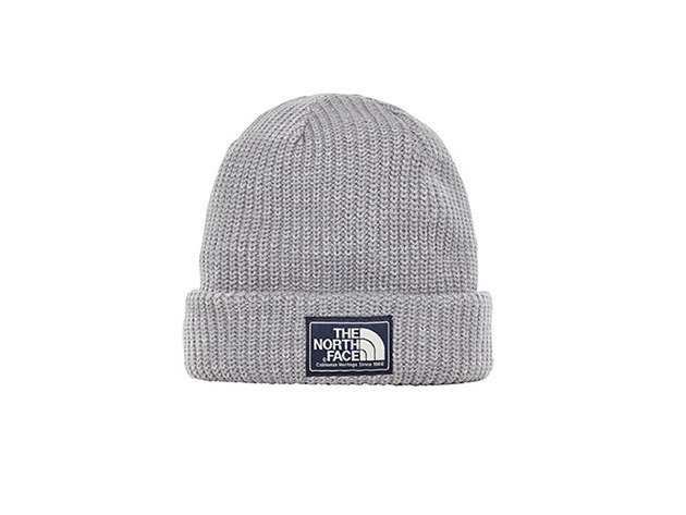 The North Face SALTY DOG BEANIE MID GREY/TIN GREY - T93FJW6JF