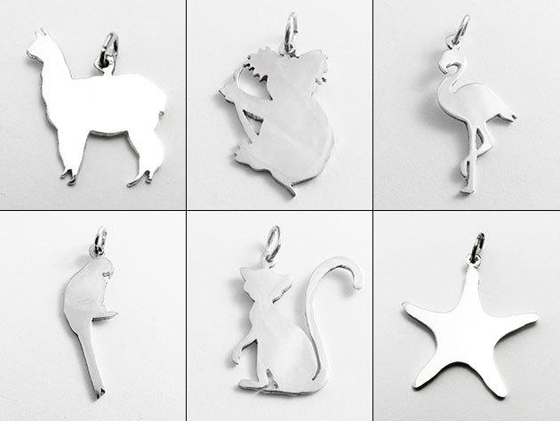"""Ezüst medálok """"állati"""" motívumokkal, magyar ékszerésztől: 925-ös finomságú ezüstből"""