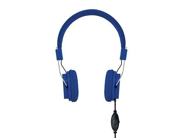 Decibel- kábeles fejhallgató - Királykék