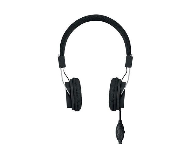 Decibel- kábeles fejhallgató - Fekete