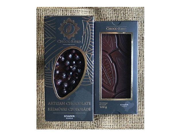 Csokoládé Chocorino Fekete ribizli 70% - AZONNAL ÁTVEHETŐ