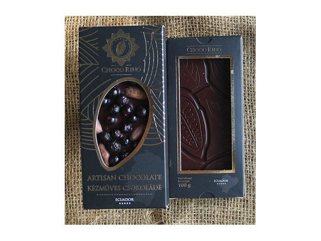 Csokoládé Chocorino Kakaóbab - Fekete ribizli 70%