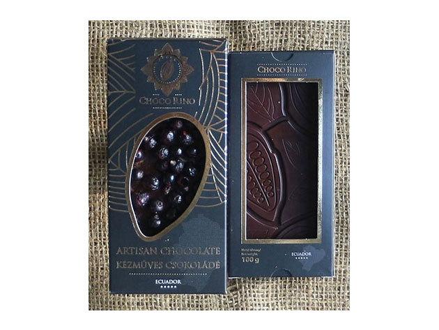Csokoládé Chocorino Fekete ribizli - fahéj 70% - AZONNAL ÁTVEHETŐ