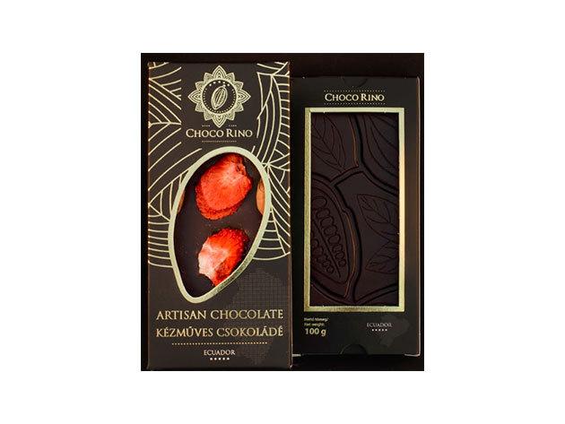 Csokoládé Chocorino Eperszelet 70% - AZONNAL ÁTVEHETŐ