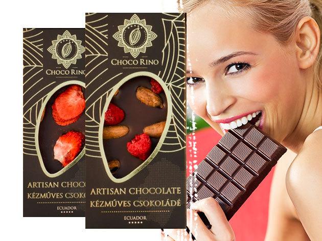 Chocorino csokoládé különleges ízekben: 70%-os kakaótartalom, liofilizált gyümölcsökkel