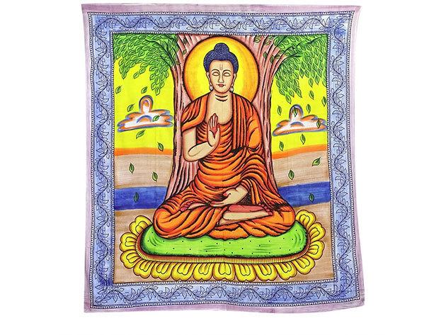Budha a naplementében- falidísz Indiából