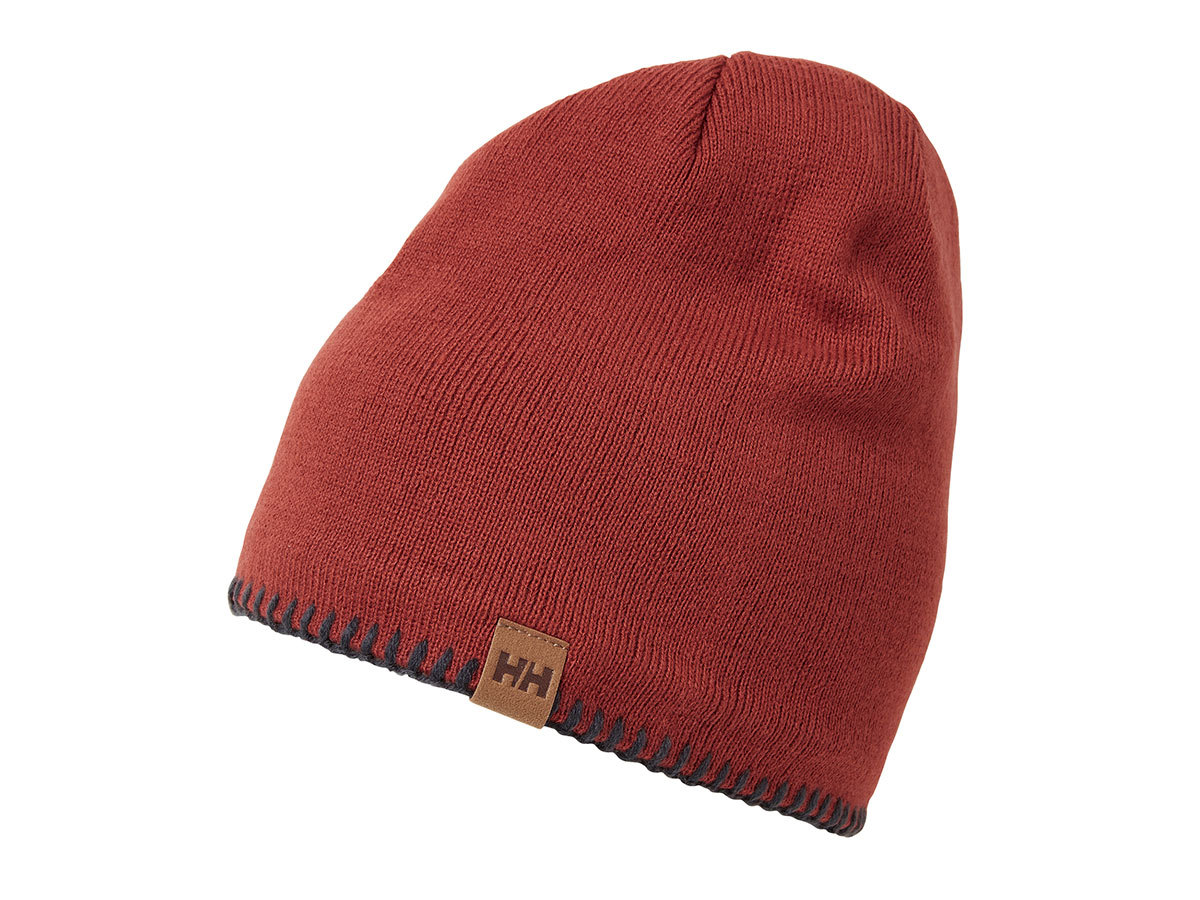 Helly Hansen MOUNTAIN BEANIE FLEECE LINED - RED BRICK / GRAPHITE - STD (67083_199-STD )