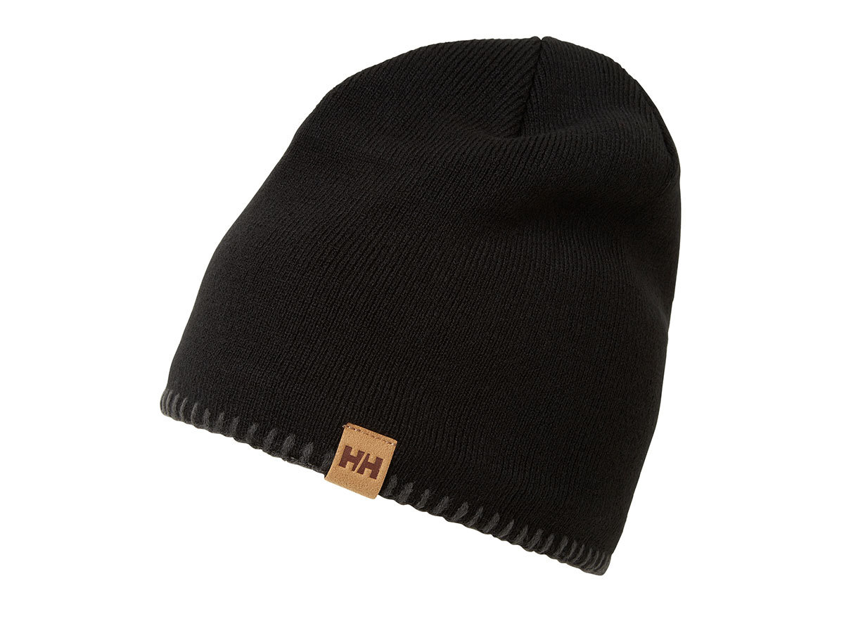 Helly Hansen MOUNTAIN BEANIE FLEECE LINED - BLACK / GREY - STD (67083_991-STD )