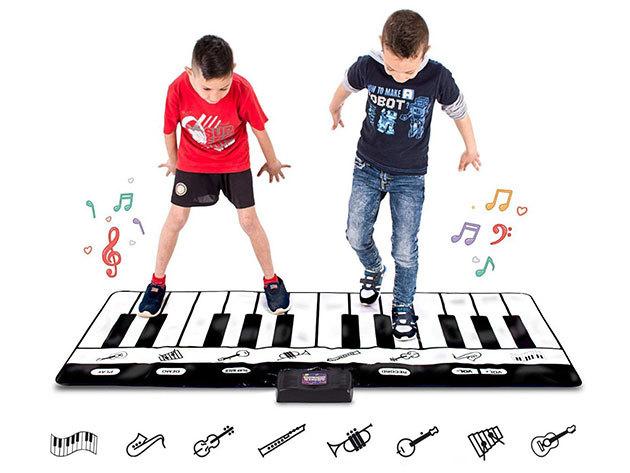 Óriás zongora játszószőnyeg nyomásérzékelős billentyűkkel, hangerő szabályozóval, felvétel készítéssel (180 x 74 cm)