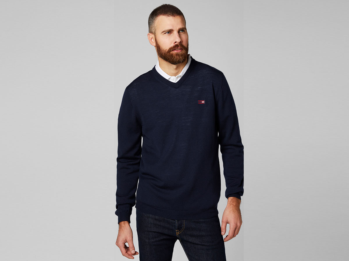 Helly Hansen SKAGEN MERINO SWEATER - NAVY - L (33997_597-L )
