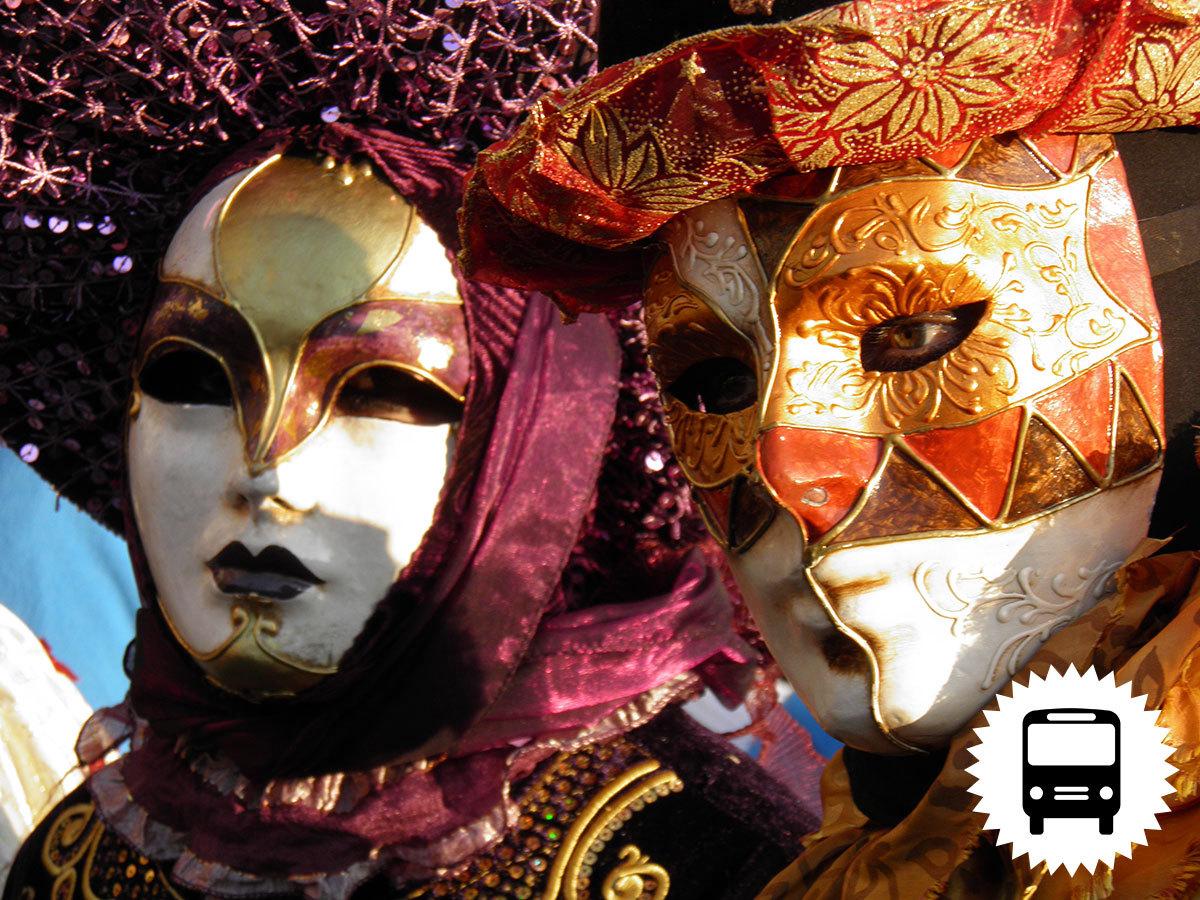 Velencei karnevál: non-stop utazás busszal Olaszországba, a gondolák városába / fő
