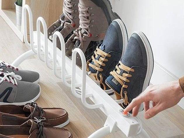 Elektromos cipőszárító 4 pár cipőnek, 80 W teljesítménnyel - száraz és meleg lábbelik a a csapadékos napokon is