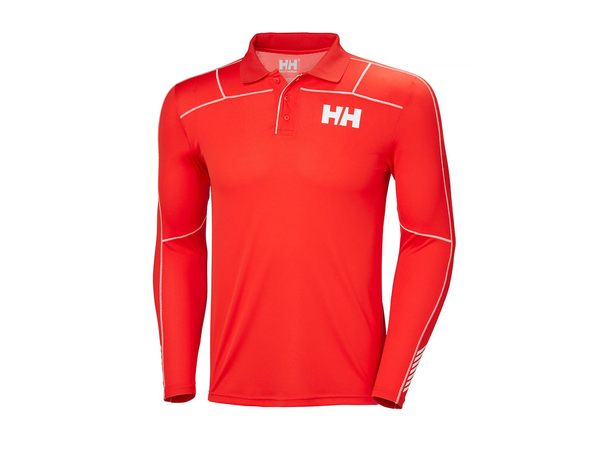 Helly Hansen HH LIFA ACTIVE LIGHT LS POLO - ALERT RED - M (48362_222-M )