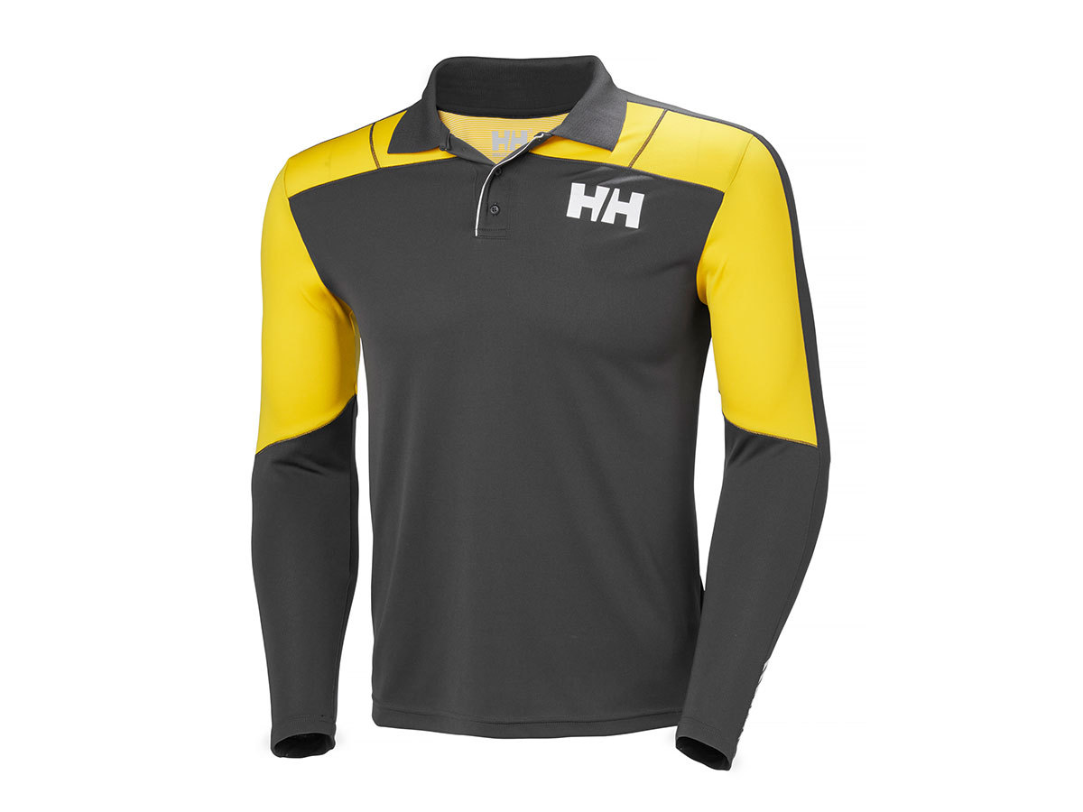 Helly Hansen HH LIFA ACTIVE LIGHT LS POLO - EBONY - S (48362_980-S )