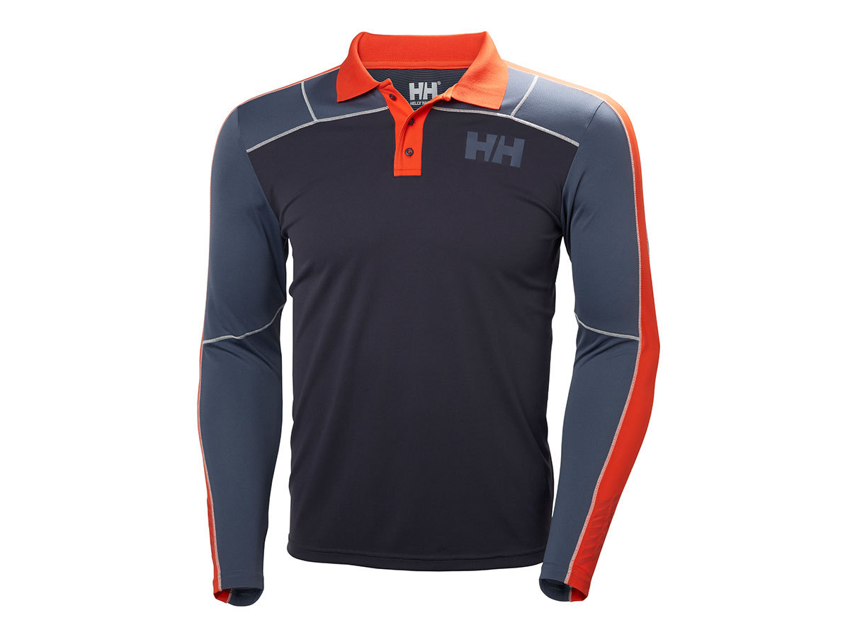 Helly Hansen HH LIFA ACTIVE LIGHT LS POLO - GRAPHITE BLUE - S (48362_994-S )
