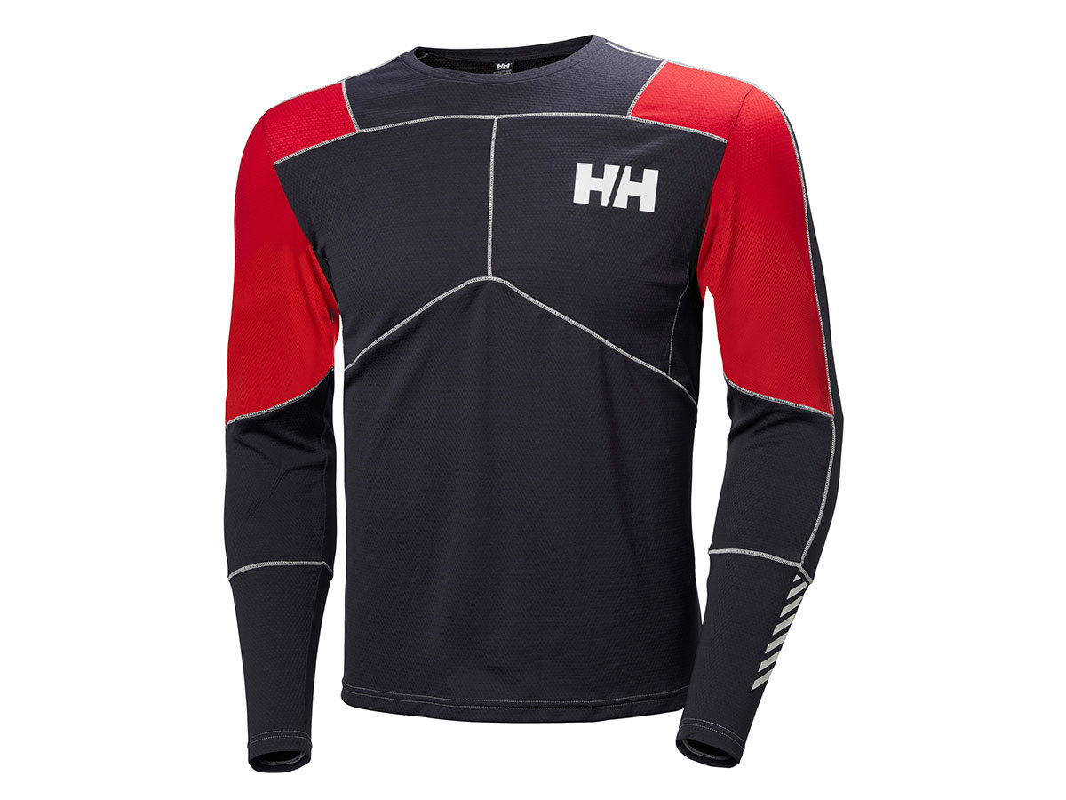 Helly Hansen HH LIFA ACTIVE CREW - GRAPHITE BLUE / FLAG RED - L (48308_995-L )