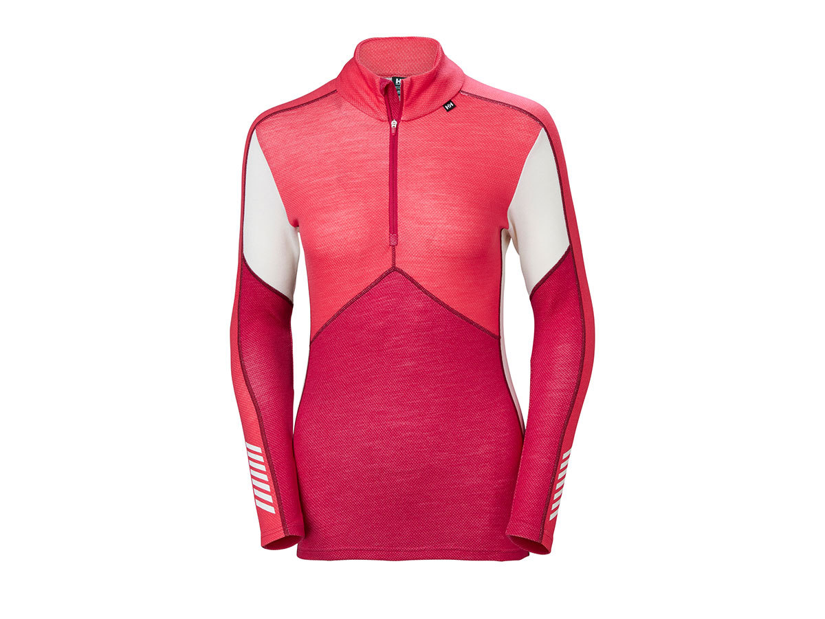 Helly Hansen W HH LIFA MERINO 1/2 ZIP - PERSIAN RED - XS (48343_183-XS )