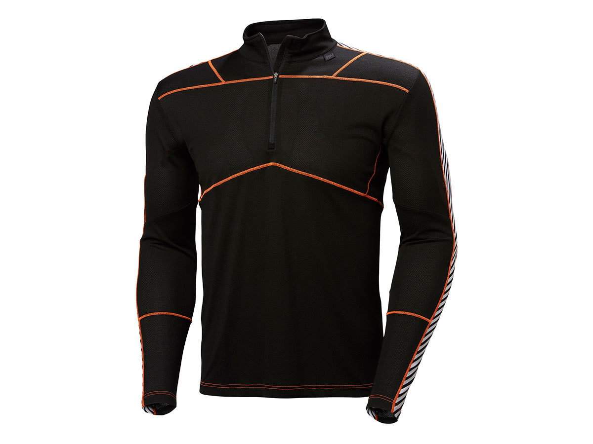 Helly Hansen HH LIFA 1/2 ZIP - BLACK / NEON ORANGE - S (48302_991-S )