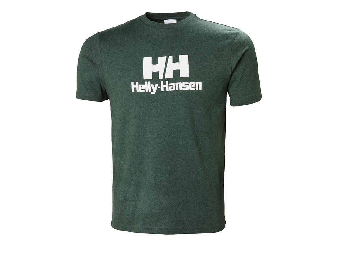 Helly Hansen HH LOGO T-SHIRT - MOUNTAIN GREEN MELANGE - XXS (53165_454-2XS )