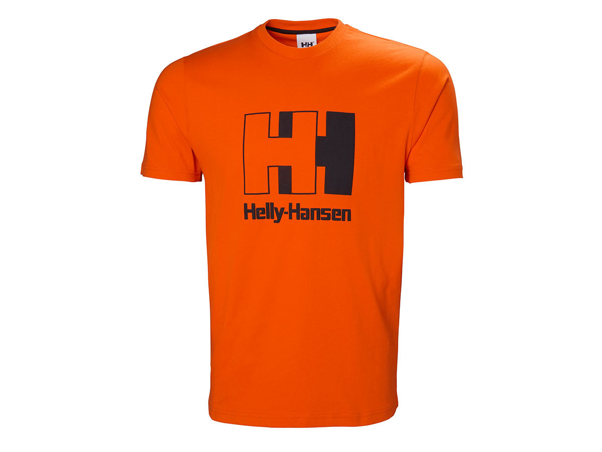 Helly Hansen HH LOGO T-SHIRT - BLAZE ORANGE - S (53165_282-S )
