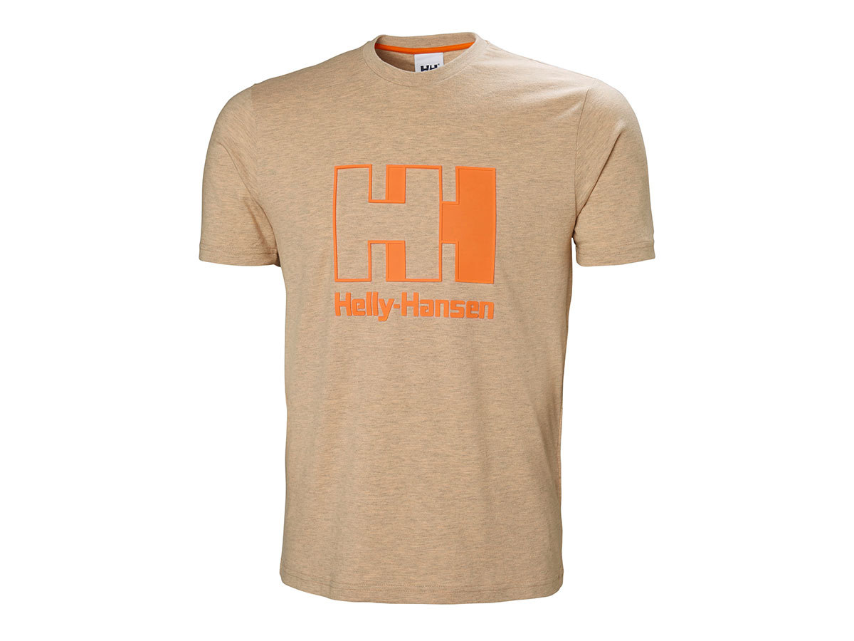 Helly Hansen HH LOGO T-SHIRT - APRICOT MELANGE - XXL (53165_294-2XL )
