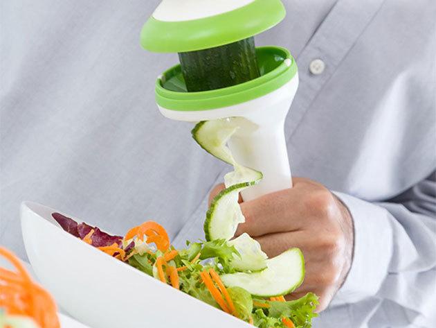 InnovaGoods 3 az 1-ben spirális zöldségvágó, mellyel könnyedén elkészítheted a legkreatívabb köreteke