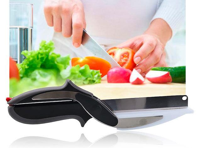 Zöldségvágó olló - gyors aprítás, ergonomikus markolat, a zöldségek egyenesen az edénybe kerülhetnek