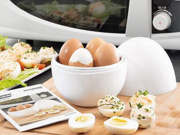 InnovaGoods tojásfőző mikróba recepttel - 4 férőhelyes, könnyen tisztítható készülék