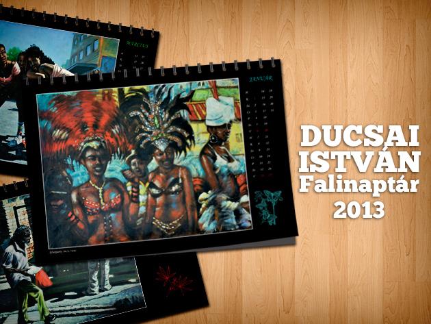 2013-as egyedi A3-as akasztható karibi falinaptár, Dulcsai István magyar festőművész képeivel!
